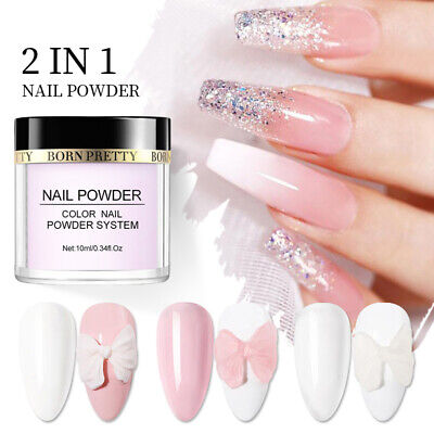 Pink White Clear Acrylic Powder Tip Extension Nail Polymer Powder BORN PRETTY