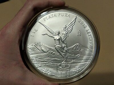 Mexico - 2012 1 Kilo Silver Libertad in Capsule - Low Mintage of only 2,600