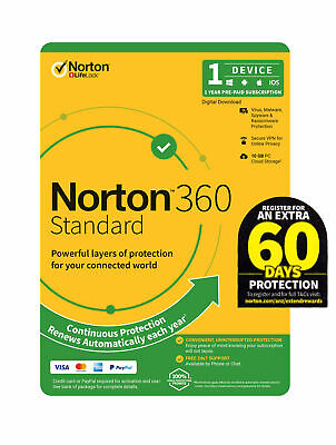 Norton Internet Security STANDARD 2019- 2020 Multi Device NEXT DAY DELIVERY KEY