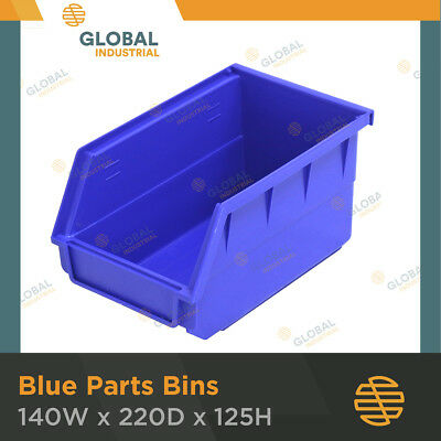 12 x Blue Plastic Spare Parts Bins Storage Containers SO0204