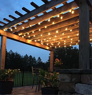 50/73/100 FT Globe Patio Outdoor String Lights - G50/G40/G30/S14 Clear Bulbs