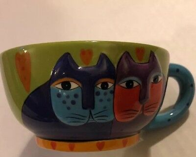 VTG Laurel Burch Large Cup For Ganz Cats Dimensional Tea Cup NEW
