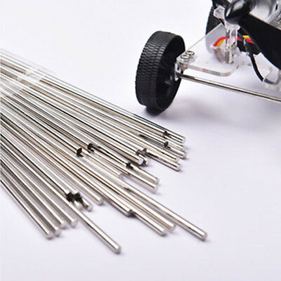 10/40pcs RC Toy Car Electroplated Iron Round Shaft Rod Axles L:9-100mm Φ2mm UK