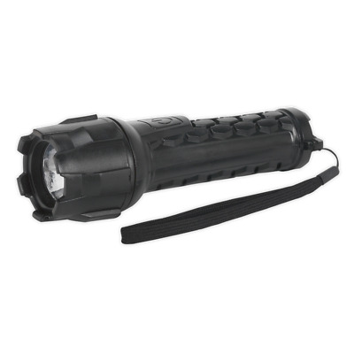 NEW Rubber Waterproof Torch 1W CREE LED 2xAA Cell-LED050 UK
