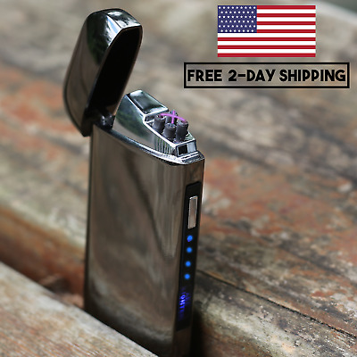 NEW Style JOLT Dual Arc Electric USB Lighter Rechargeable Plasma Windproof