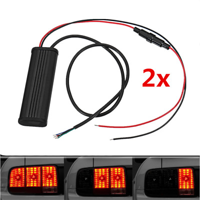 2x Universal Sequential Flash Module Control Relay Box For Car Turn Signal Light
