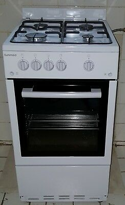 Used Euromaid GGFW50NG 50cm Freestanding Natural Gas Oven and Stove/Cooktop