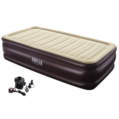 Inflatable High Raised Double Air Bed Mattress Queen Airbed Free Electric Pump