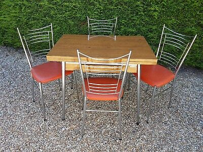 """Lovely retro late 60's/70's extending table and 4 chairs"""" in v.g.c."""