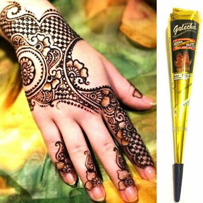 Waterproof Natural Indian Tattoo Henna Paste For Body Drawing Black Cream 4F57