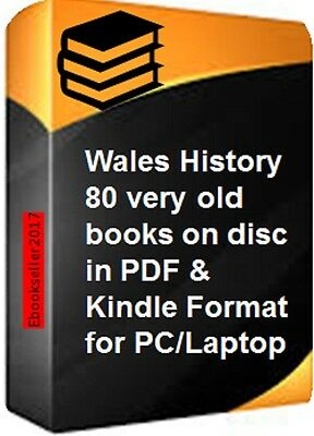 ebooks, 80 of Wales history genealogy in pdf & mobi format for PC & more on disc