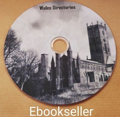 Wales, directories, genealogy, history, in pdf ebooks, files read on PC on disc