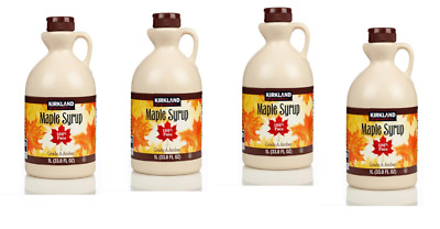 4 x Canadian Maple Syrup Kirkland 100% Pure Grade A - 1 Litre - Amber