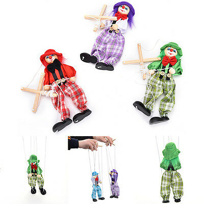 UNIQUE PULL STRING Puppet Wooden Marionette Joint Activity