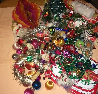 Vintage / Retro Job Lot Of 1960'S/1970'S Christmas Decorations