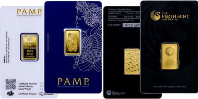 Perth Mint Or Pamp Suisse - 5 Gram Gold Bar .9999 Gold Bullion