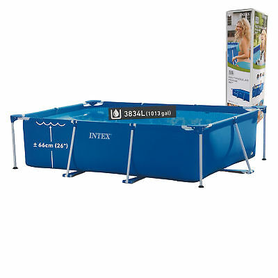 Intex Family Schwimmbecken 300 x 200 x 75 cm blau Swimming Pool Eckig Groß