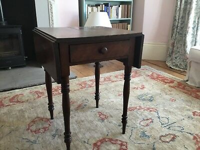 Drop leaf side table with draw