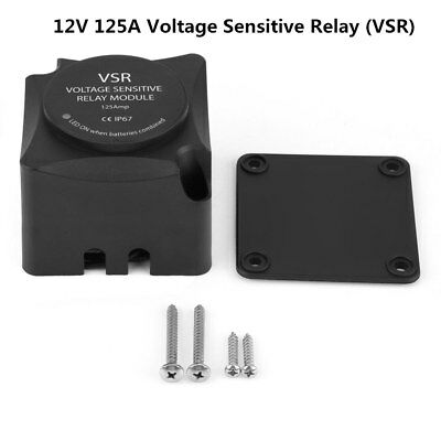 12V 125A Voltage Sensitive Relay (VSR) Automatic Charging Dual Battery Isolator
