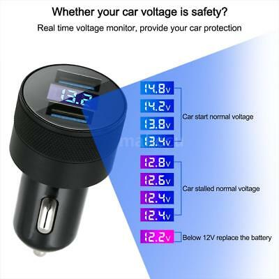 LED-Anzeige Car Charger 3.1A Schnellladung Dual USB Adapter für Samsung I7L5