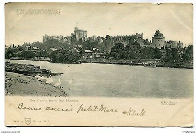 CPA-Carte postale-Royaume Uni - Windsor - The Castle from the Thames - 1904