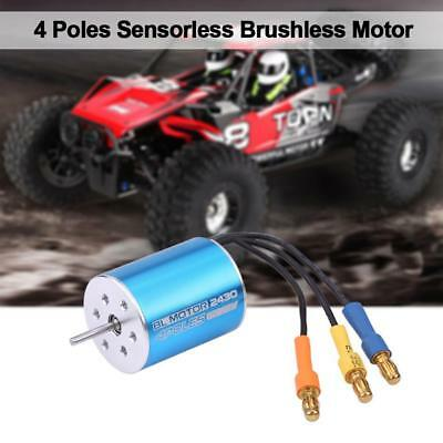 2430 8200KV 4 Pole Sensorless Brushless Motor für 1/16 1/18 RC Modellauto
