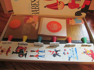 vintage colorforms walt disney babes in toyland printer set #184