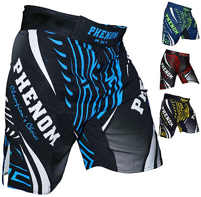 Phenom Mens MMA Shorts Grappling UFC Kick Boxing Cage Fighting Muay Thai short