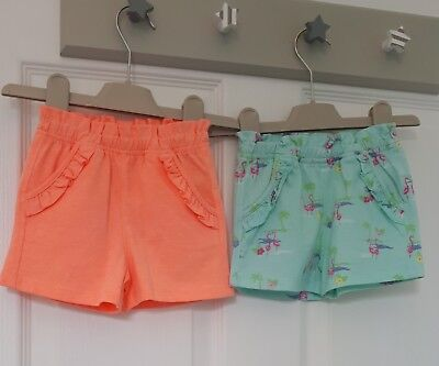Baby girls bright 2 pair shorts by Mothercare size 6-9 months