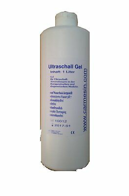 (GP: 2,90 Euro / L) 1000 ml Kontaktgel Gleitgel Leitgel Ultraschallgel Gel
