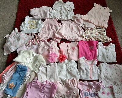 Large Baby Girl 0-3 Months Clothes Bundle