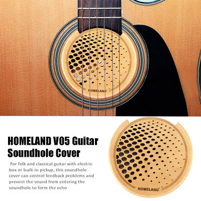 Acoustic Guitar Feedback Buster Soundhole Cover Wood Sound Buffer Hole Protector