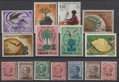 Anciennes colonies italiennes, Timbres neufs MNH, bien