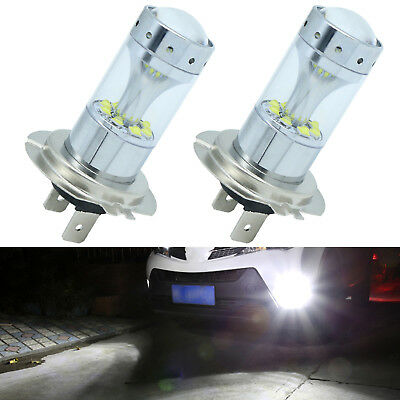 2x H7 100W Original CREE LED Fog Driving Light Bulbs 6000K Super White Projector