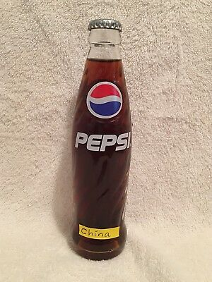 RARE FULL 200ml PEPSI-COLA ACL SODA BOTTLE FROM CHINA