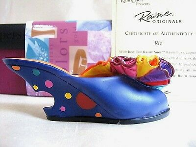 Vintage Just The Right Shoe RIO Sandal #25080 1999 Raine Willitts COA NEW IN BOX