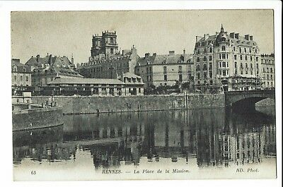 CPA-Carte postale-  FRANCE -Rennes - La Place de la Mission-1913- S1201