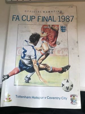 Official FA Cup Magazine 1987 Coventry Tottenham Spurs