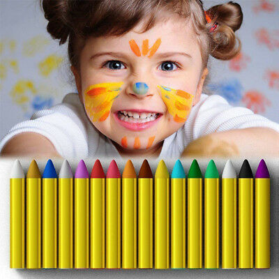 Kids DIY 16 Colors Face Paint Set Non-toxic Body Paint Stick Body Tattoo Crayons
