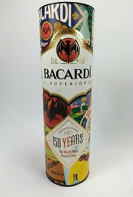 Bacardi 150 Years Of Awarded Rum Case 1 Liter Bottle Container