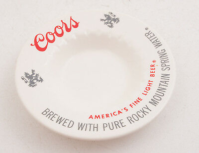 Coors Ashtray America's Fine Light Beer White Pottery (A2L)