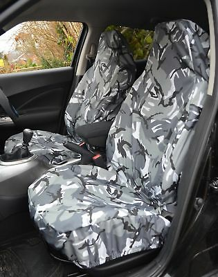 CAR VAN 4x4 MPV HEAVY DUTY GREY CAMO 1+1  SEAT COVERS SEAT COVER SET