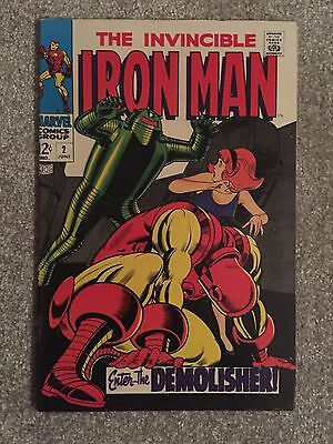IRON MAN # 2 Comic (Enter The DEMOLISHER, JUNE 1968)