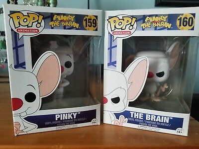 Funko Pop! Pinky And The Brain Lot - The Brain #160 and Pinky # 159