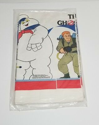 NOS Sealed Vintage 1986 The Real Ghostbusters Paper Table Cloth, Stay Puft