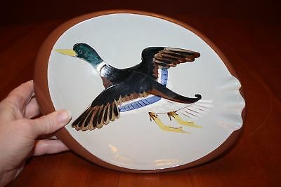 "Vintage Stangl Pottery 10.75"" x 8"" Duck Large Ashtray Sportsman's Giftware EUC"