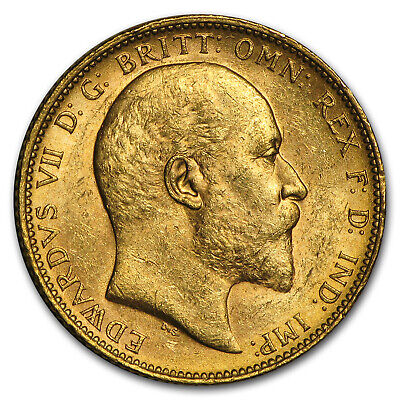1902-1910-M Australia Gold Sovereign Edward VII BU - SKU #91548
