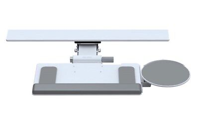Humanscale White 6g mech, 900 board with clip on mouse platform and palm support