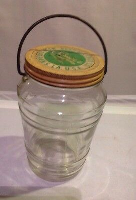 Vintage 40's Elmer Candy Co. New Orleans Jar With Swing Handle