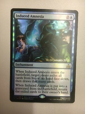 2 x Induced Amnesia, PRE RELEASE FOIL, Enchantment, Rivals of Ixalan (RIX)